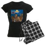 Cards and Cats Women's Dark Pajamas