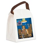 Cards and Cats Canvas Lunch Bag