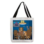 Cards and Cats Polyester Tote Bag