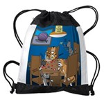 Cards and Cats Drawstring Bag