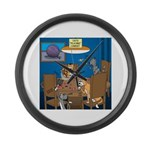 Cards and Cats Large Wall Clock