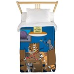 Cards and Cats Twin Duvet Cover