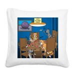 Cards and Cats Square Canvas Pillow