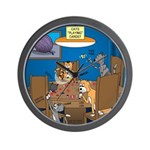 Cards and Cats Wall Clock