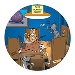 Cards and Cats Round Car Magnet