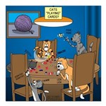 Cards and Cats Square Car Magnet 3