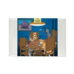Cards and Cats Rectangle Magnet