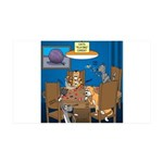 Cards and Cats 35x21 Wall Decal