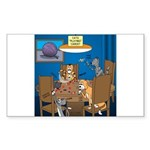 Cards and Cats Sticker (Rectangle)