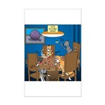 Cards and Cats Mini Poster Print