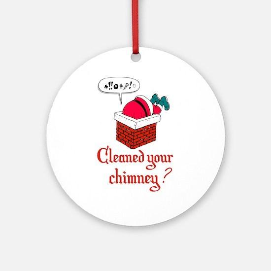 Humorous Santa Ornament (Round)