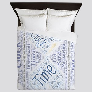 icon simple time Queen Duvet