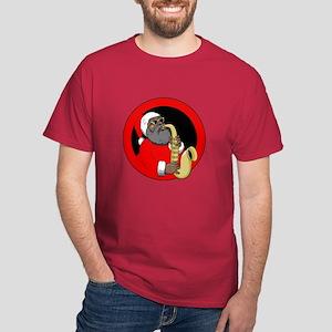 Saxophone Santa Dark T-Shirt