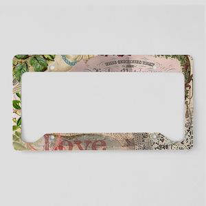 Wedding Gifts Vintage Wedding License Plate Holder