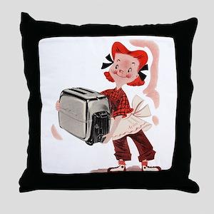 Toaster Girl Throw Pillow