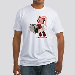 Toaster Girl Fitted T-Shirt