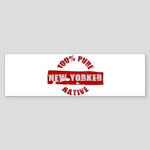 NEW YORK SHIRT 100% NEW YORK Bumper Sticker