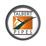Talbert Pipes Wall Clock