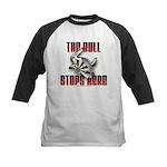 Bull Stops Here Kids Baseball Jersey