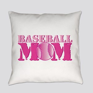 Baseball Mom pink Everyday Pillow