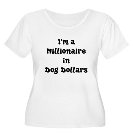 dog dollars millionaire Women's Plus Size Scoop Ne