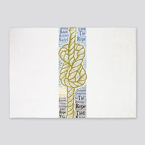 rope tie tied knot 5'x7'Area Rug