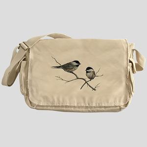 chickadee song birds Messenger Bag