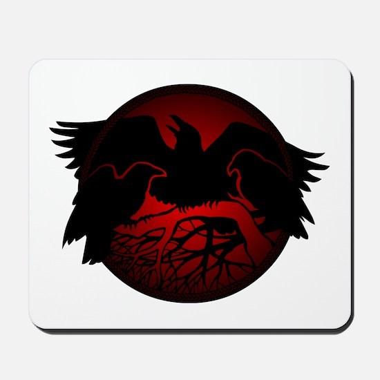 Raven Art Native Spirit Animal Mousepad