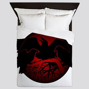Raven Art Native Spirit Animal Queen Duvet