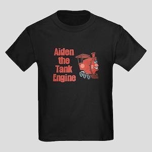 Aiden the Tank Engine Kids Dark T-Shirt