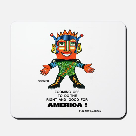 Zoomer for America Mousepad