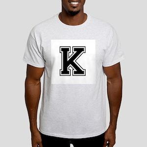 Varsity Letter K White T-Shirt