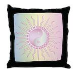 Pink Starburst Yin Yang Throw Pillow