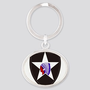 Army-2nd-Infantry-Shoulder Keychains