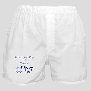 Proud Pop-Pop of Twins - BG smiley Boxer Shorts