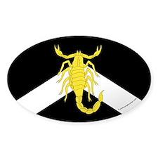 al-Barran populace Oval Sticker