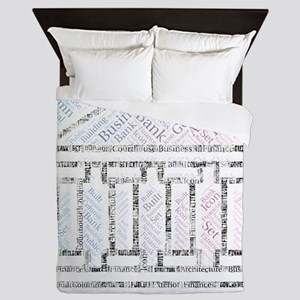 icon plain futura monochrome Queen Duvet