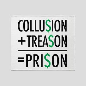 Collusion, Treason, Prison Throw Blanket
