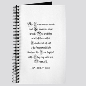 MATTHEW 20:22 Journal