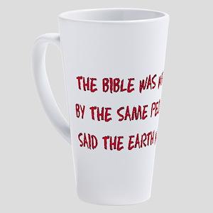 Flat Earth Bible 17 oz Latte Mug