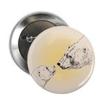 "Polar Bear & Cub 2.25"" Button"