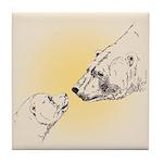 Polar Bear & Cub Tile Coaster
