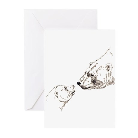 Polar Bear & Cub Greeting Cards (Pk of 10)
