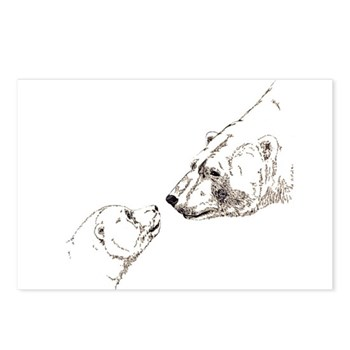 Polar Bear & Cub Postcards (Package of 8)