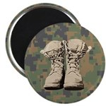 Combat boot design with Digital Camo Magnets