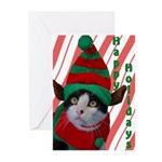 Elf Cat Greeting Cards (Pk of 20)