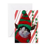 Elf Cat Greeting Card