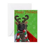 Reindeer Dog Greeting Card