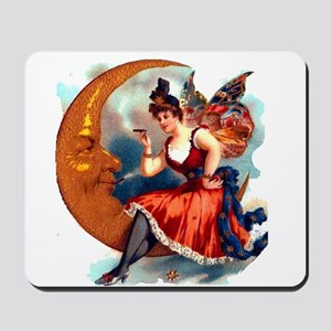 Butterfly Lady on Moon Mousepad