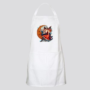 Butterfly Lady on Moon Party Hostess Gift Apron